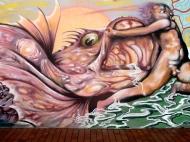 "Mañana""Poema del Atlántico"" Graffiti hip-hop shop/Néstor (febrero 2014)"