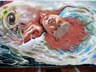 """Mediodía """"Poema del Atlántico"""" Graffiti hip-hop shop/Néstor (febrero 2014)"""