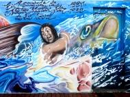 """Tarde """"Poema del Atlántico"""" Graffiti hip-hop shop/Néstor (febrero 2014)"""