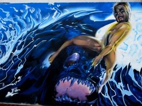 """Noche """"Poema del Atlántico"""" Graffiti hip-hop shop/Néstor (febrero 2014)"""