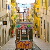 "Domingo en Lisboa: ""Elevador da Bica"" (e rio Tejo)"